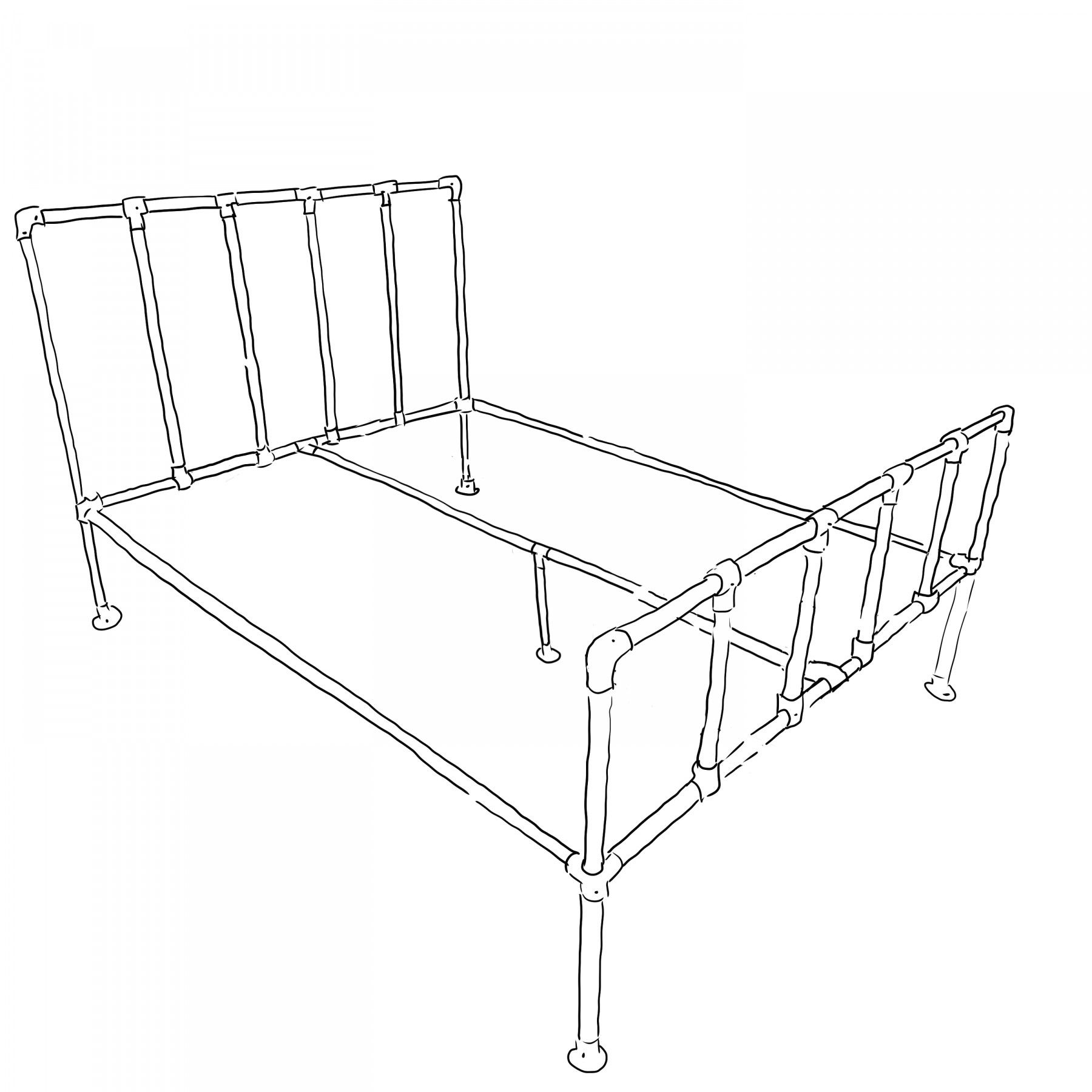 Camden Industrial Bed Frame Kit Small Double Simplified