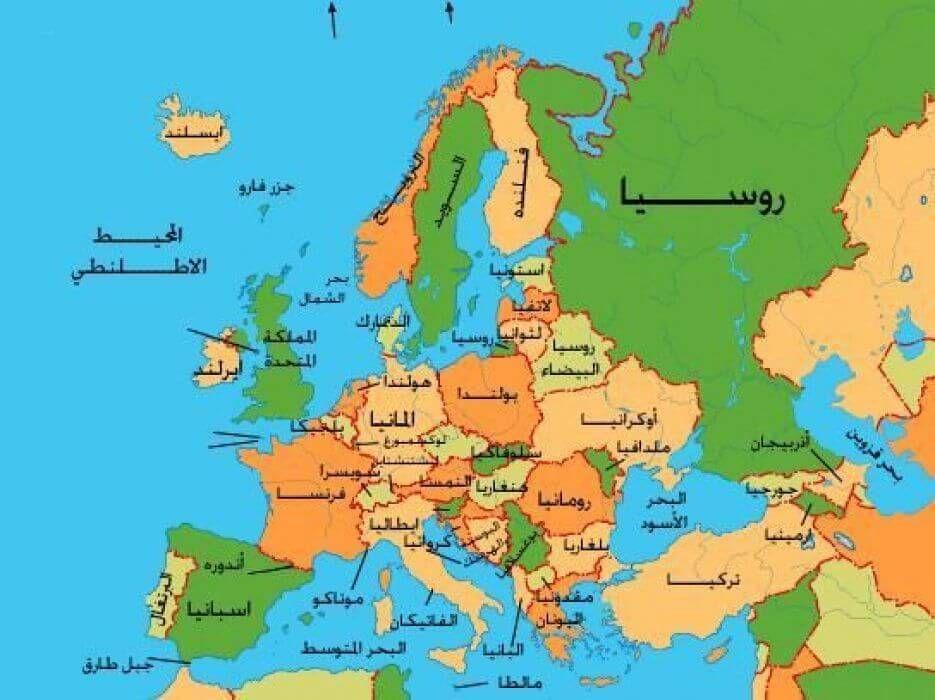 خريطة قارة أوروبا Map World Map Simple Art