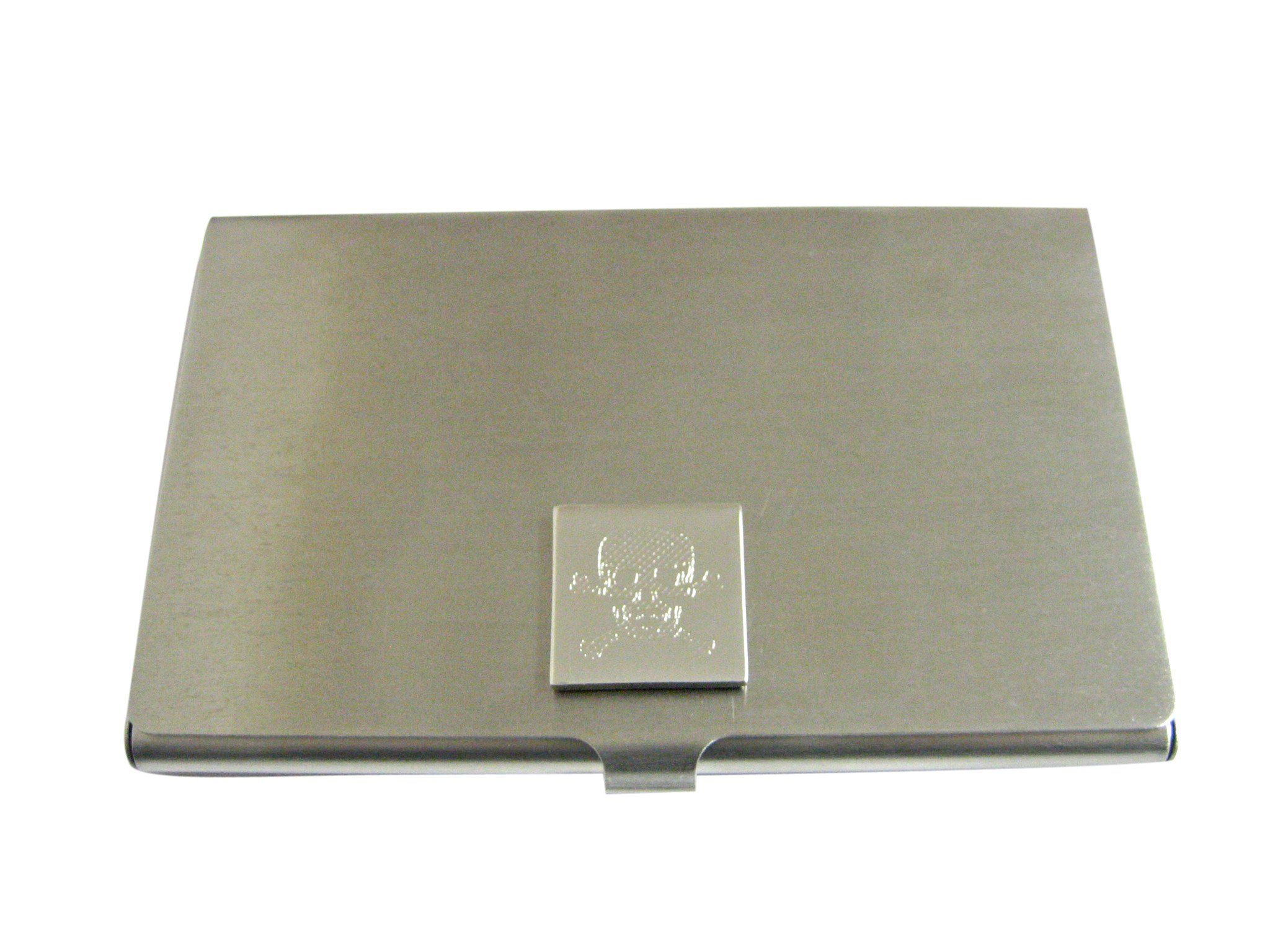 Kiola Designs Silver Toned Etched Tooth Square Tie Clip