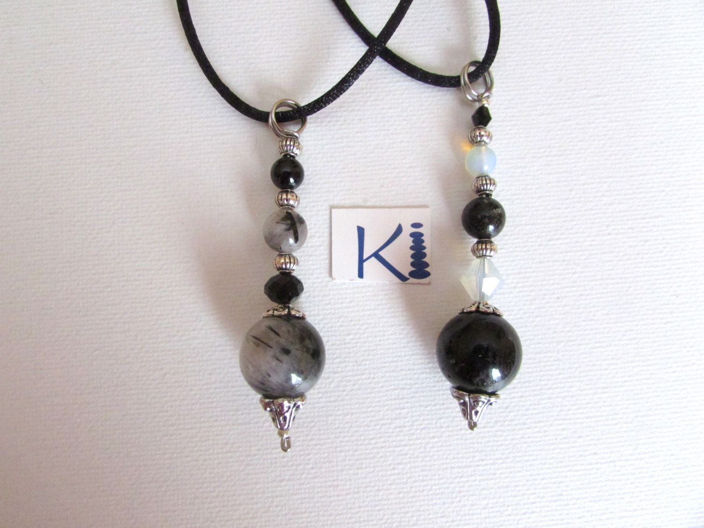 Tourmilated quartz black tourmaline tourmalinated quartz pendant ladder aloadofball Image collections