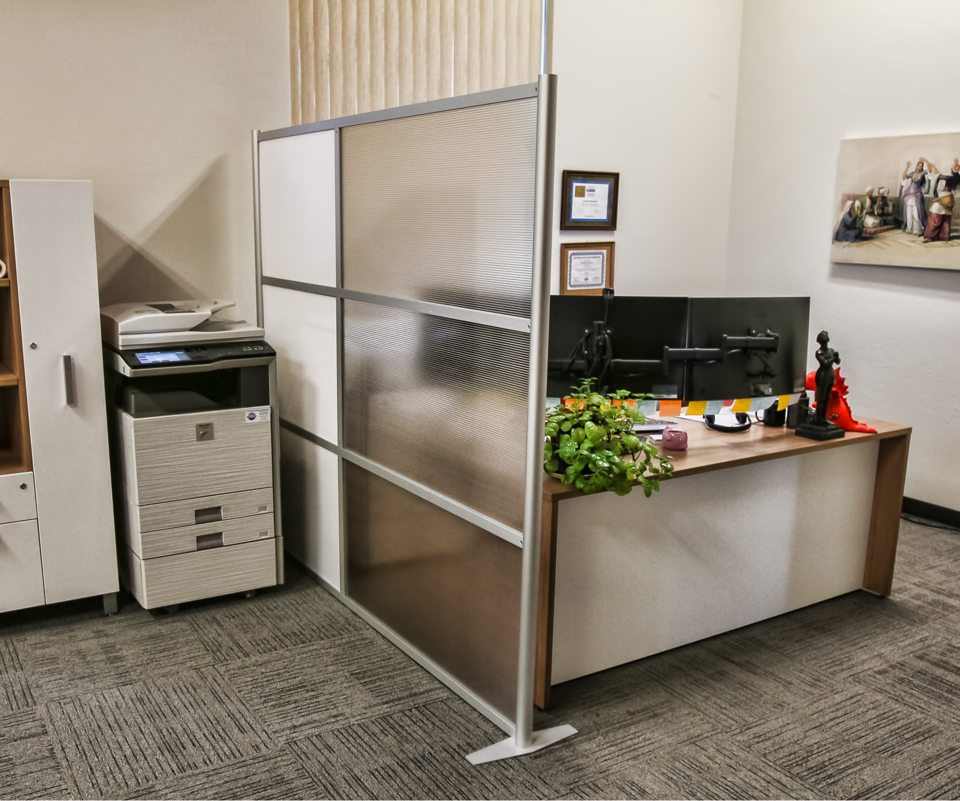 office devider. Office Partition And Room Divider Model White Translucent \u0026 Hammered Freeze Panels Wall Width \u003d Height *Base Projection Adds At Ea Devider