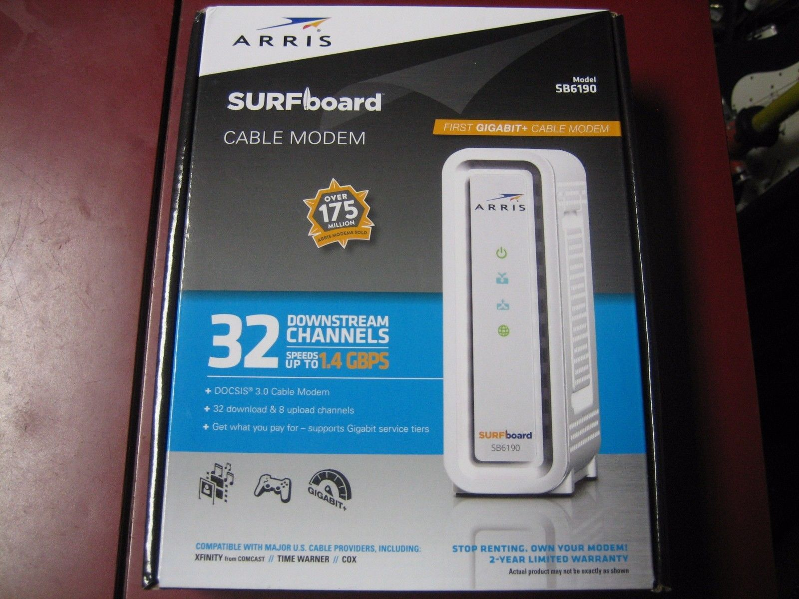 NEW ARRIS SB6190 SURFBOARD CABLE MODEM | Common Shopping | Pinterest ...