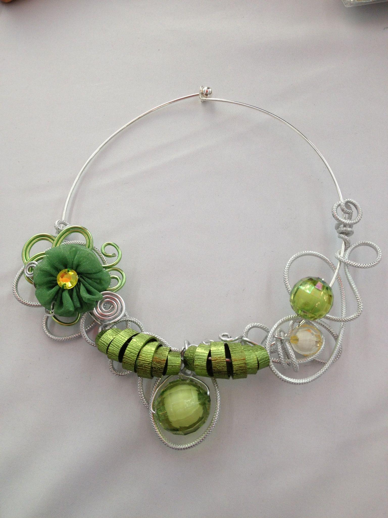 Collier fil alu | Aluminium wire jewelry | Pinterest | Aluminum wire ...
