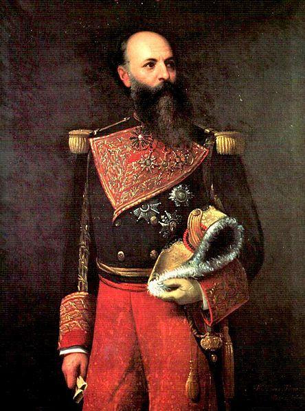 Retrato De Antonio Guzman Blanco 1875 Detalle Martin Tovar Y
