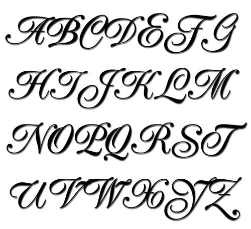 embroidery alphabet popular script machine embroidery font in 4 sizes