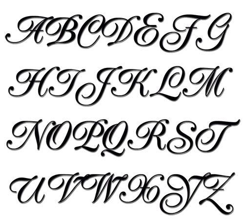 Fancy Script Tattoo Generator: Embroidery Alphabet-Popular Script Machine Embroidery Font
