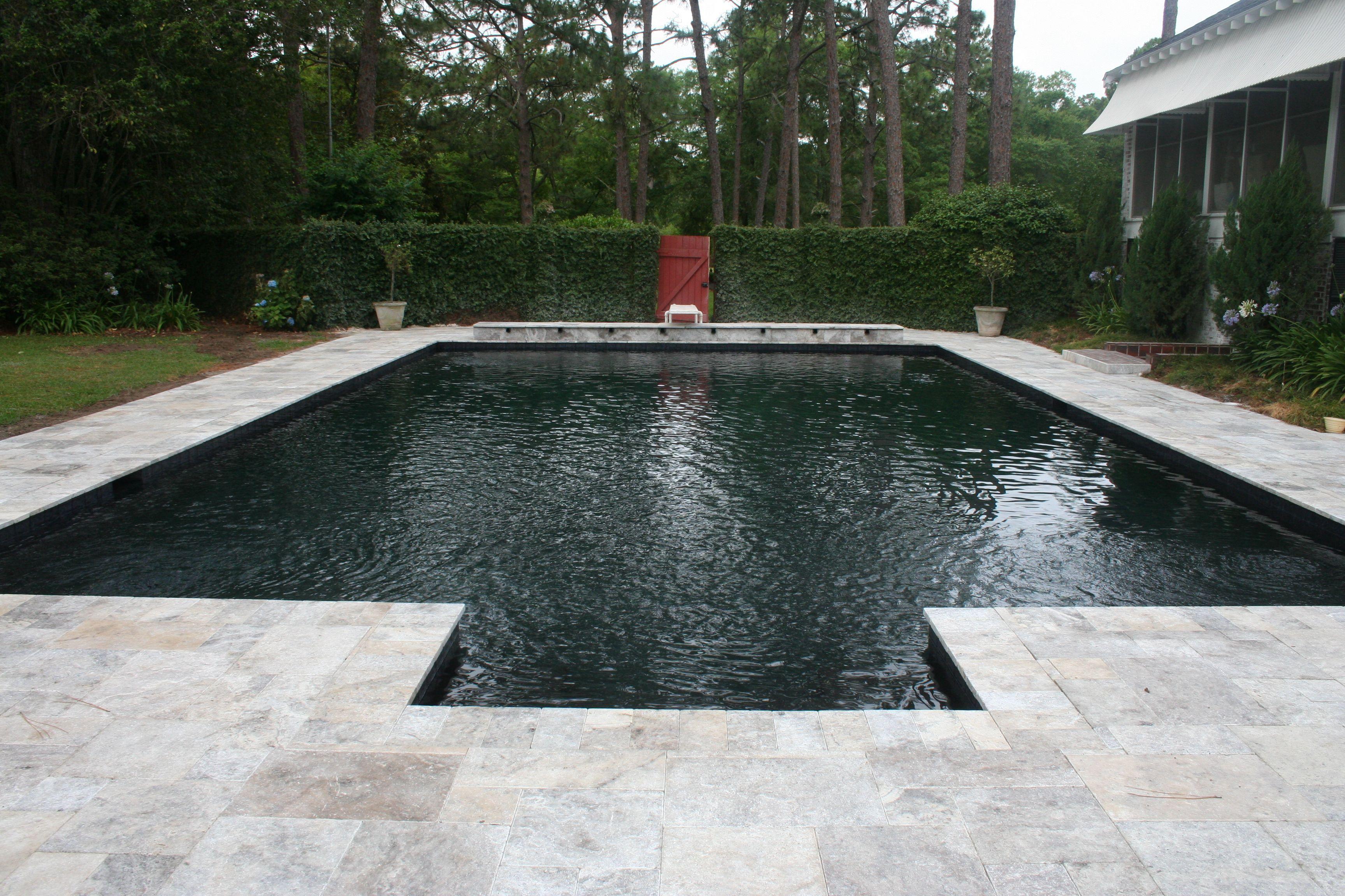 Silver Travertine Pool Deck Google Search Travertine Pool