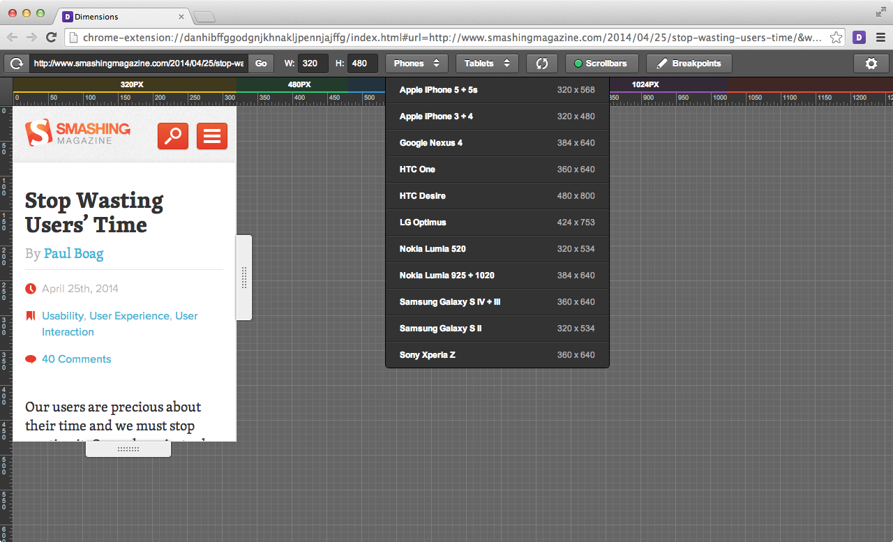 A super friendly Chrome Extension for designers to test