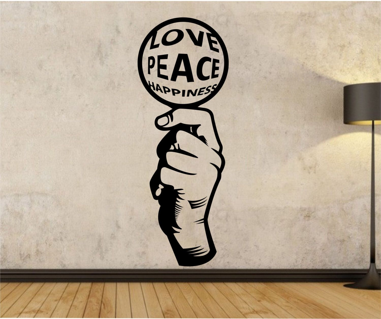 Peace Decorations For Bedrooms Love Peace Happiness Wall Decal Sticker Art Decor Bedroom Design