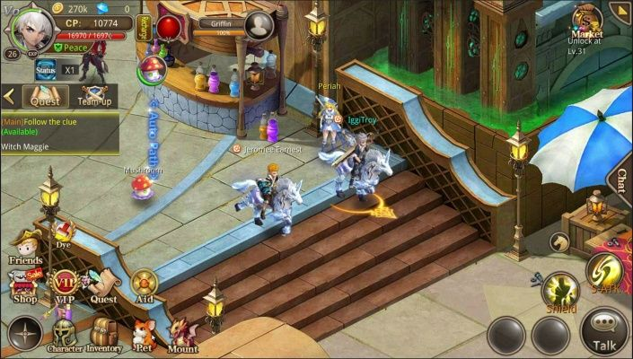 Zeon is a Free-to-play Android, classic Role-Playing MMO