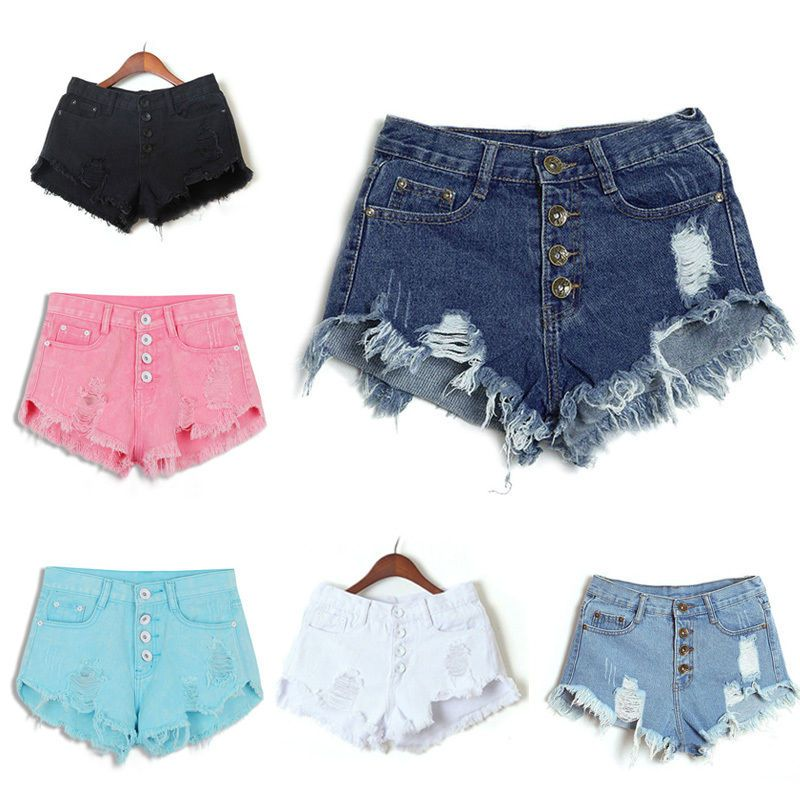 4ddb955281d4 Women High Waisted Washed Ripped Hole Short Mini Jeans Pants Denim Shorts  Pants – Girls Who Shop
