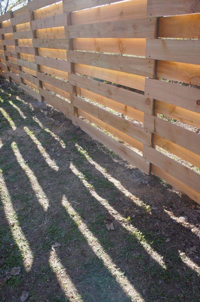 Open Envelope Studio|modern basket weave cedar fence