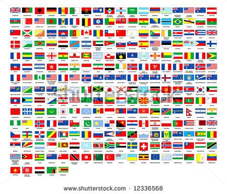 cb5ebad6a30 257 World country flags alphabetically order white background ...