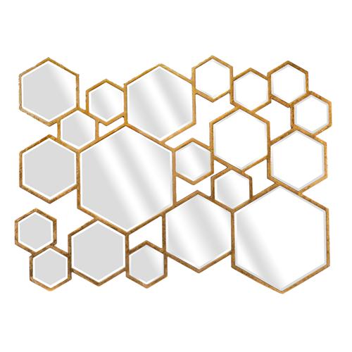 Leroy Merlin Espelho Lea Multi Hexa Dourado Accent Mirrors Mirror Hexagon Mirror