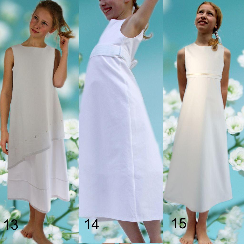 weiße Mädchenkleider | Kommunion kleider, Modestil, Kleider