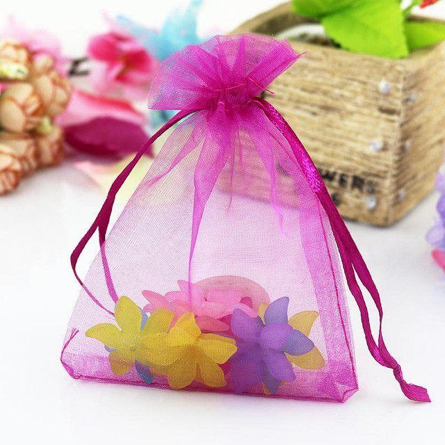 Wholesale 100pcs/lot Multicolors Organza Bags 13x18cm Cute Bracelet Packaging Bag Organza Pouches