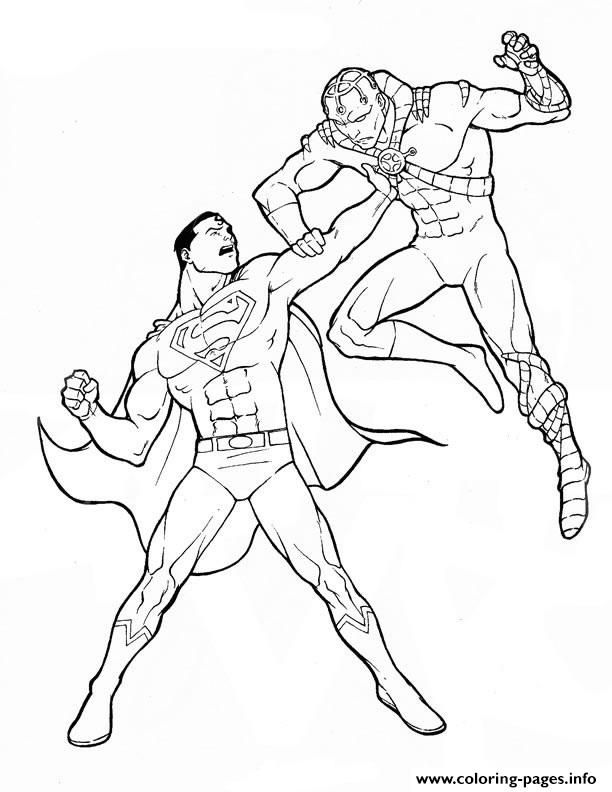 Explore Printable Coloring Pages 4 Kids And More Print Powerful Superman Page170e