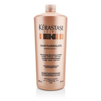 A smoothing shampoo for unruly hair  Features an optimized base to create abundant lather  Helps gently cleanse hair while delivering the right dose of evenly distributed care   Contains cationic polymer, a surface-morphing active ingredient & Research Ceramide  Provides fluidity & anti-frizz benefits      Leaves hair sleek, shiny & manageable