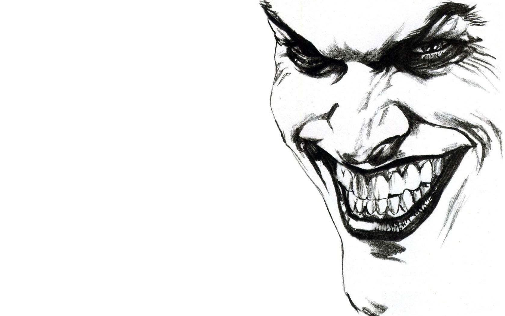 Astonishing joker sketch hd wallpaper