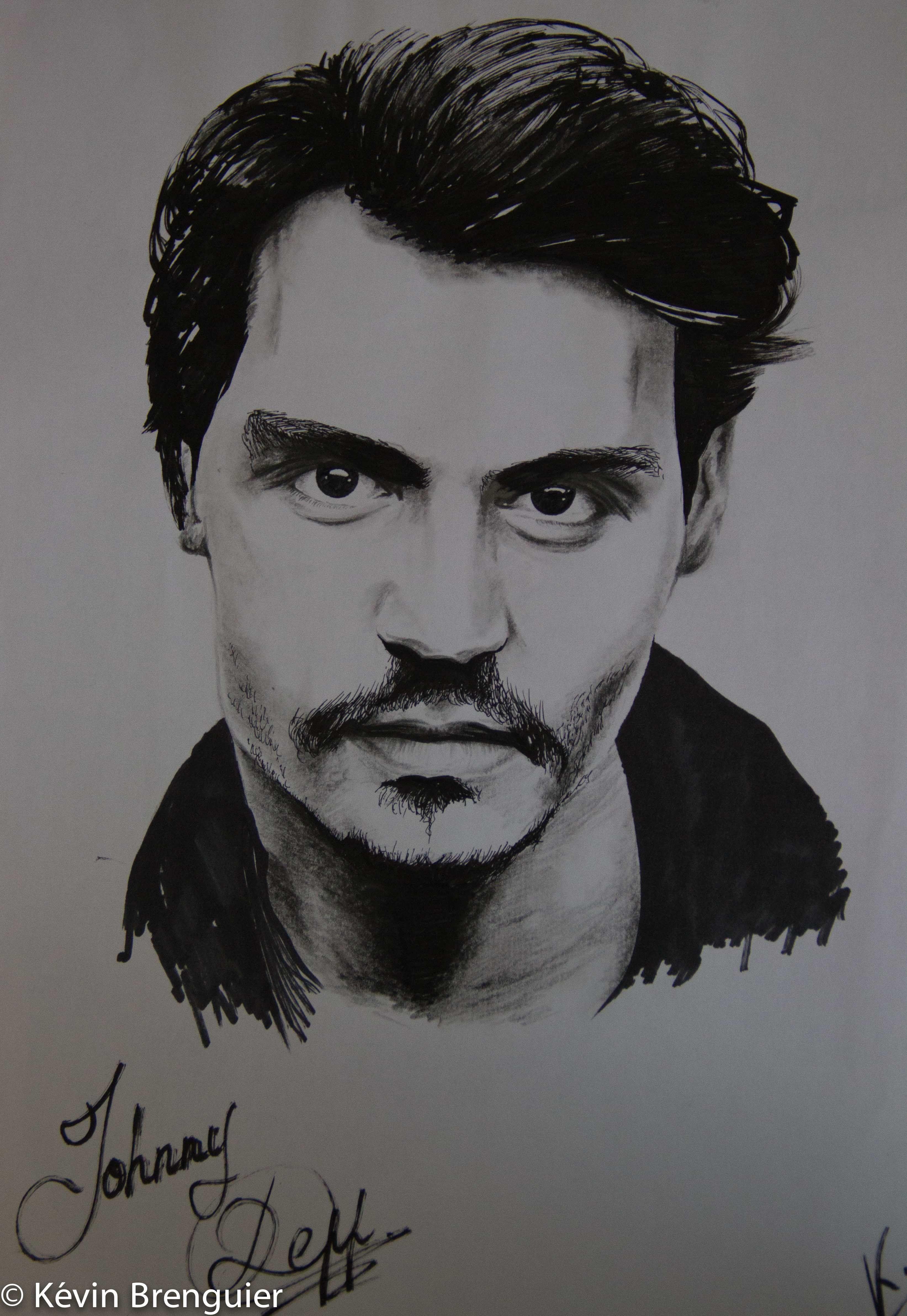Johnny depp dessin dessin - Dessin johnny depp ...