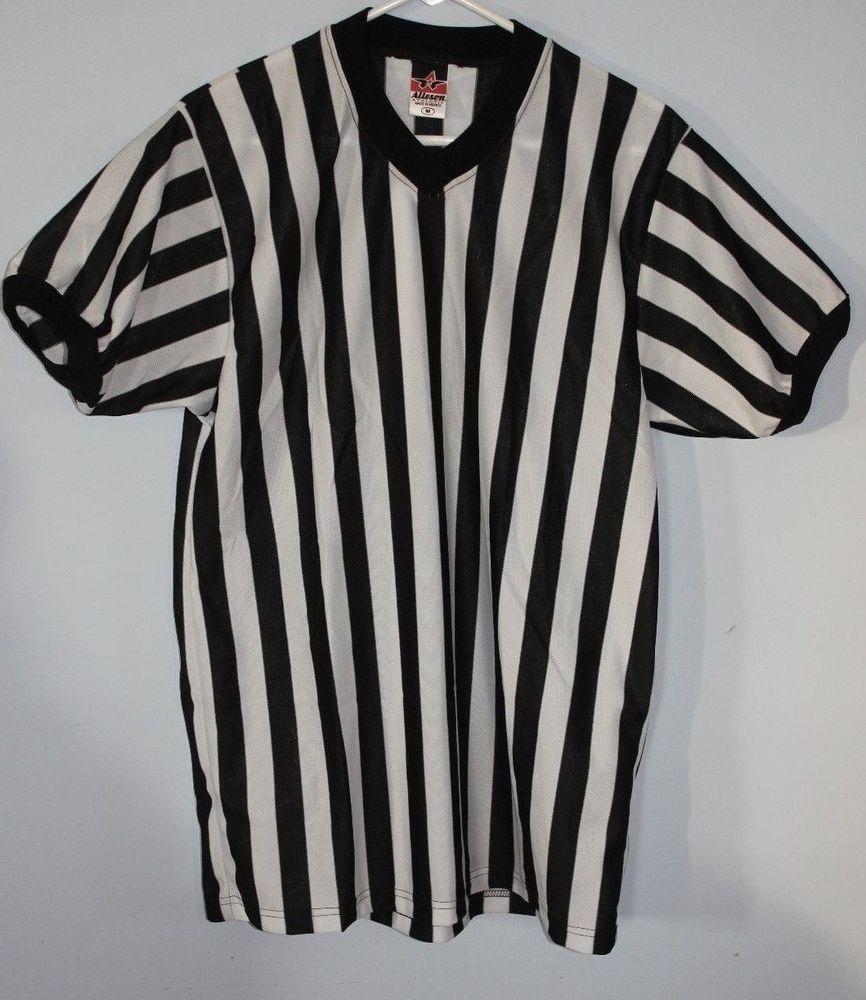 Referee Shirt Soccer Football Basketball Medium M Alleson Athletic Sports   AllesonAthletic  ShirtsTops b622702e8