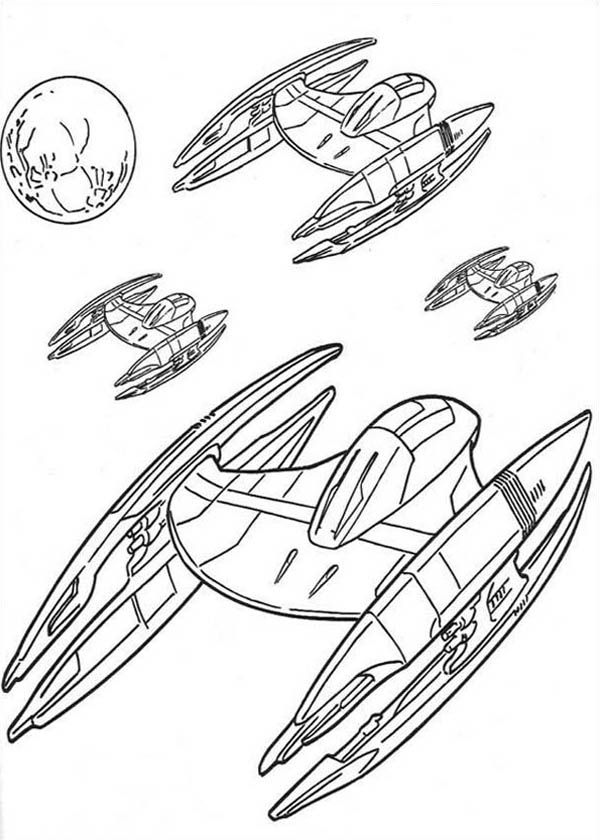 War In Spaceships Coloring Pages