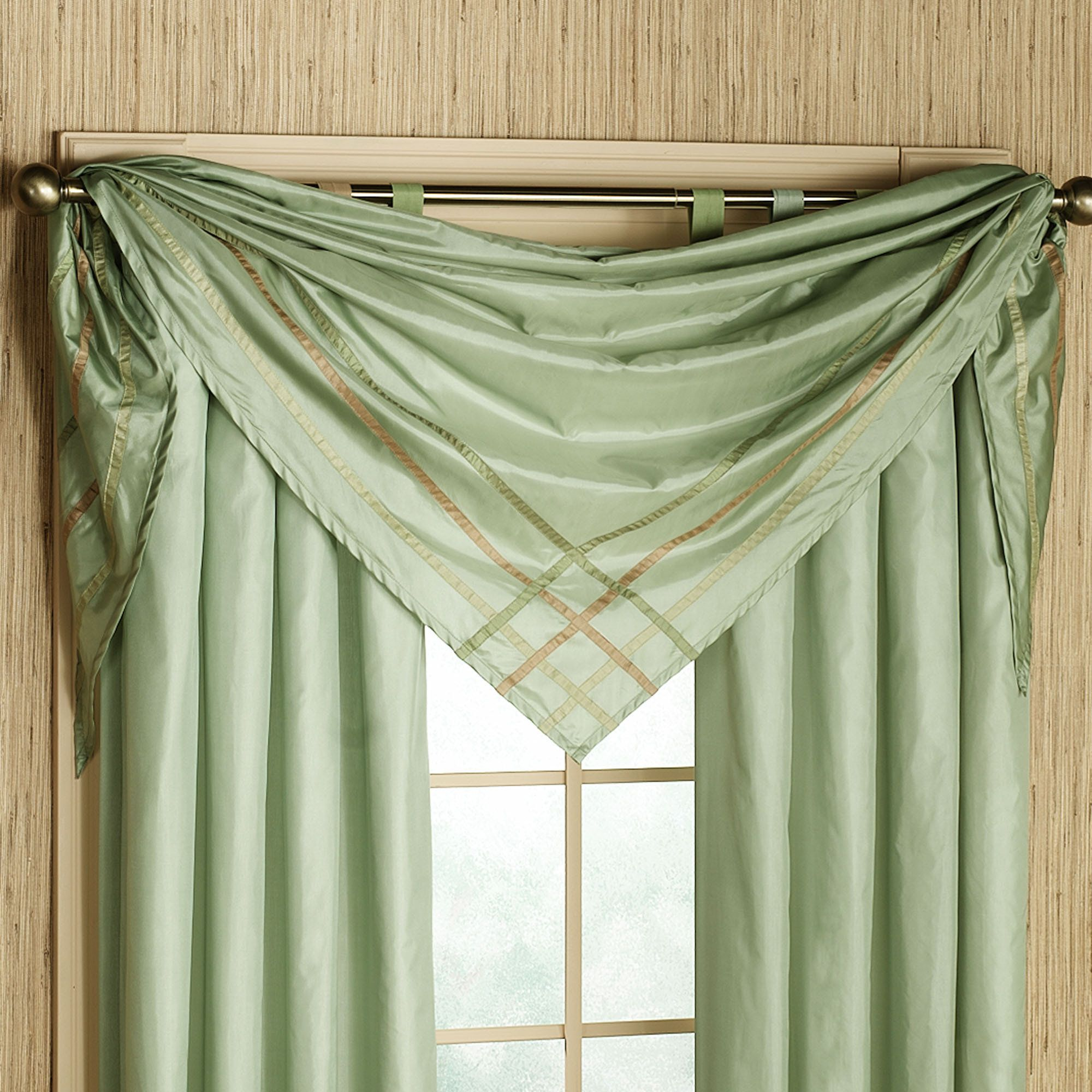 Decoration Ideas Beautiful Lime Green Scarf Window Valance Ideas