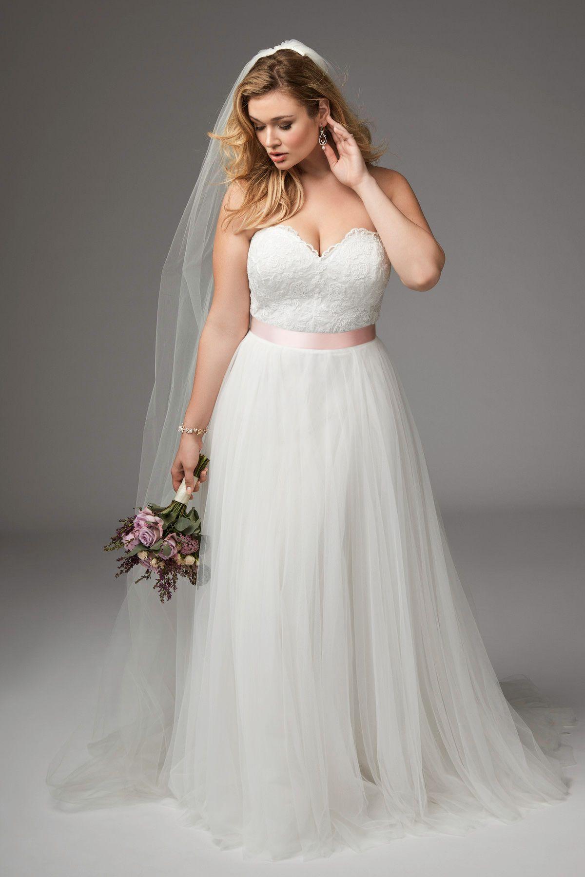 Agatha Plus size bridal dresses, Aline wedding dress