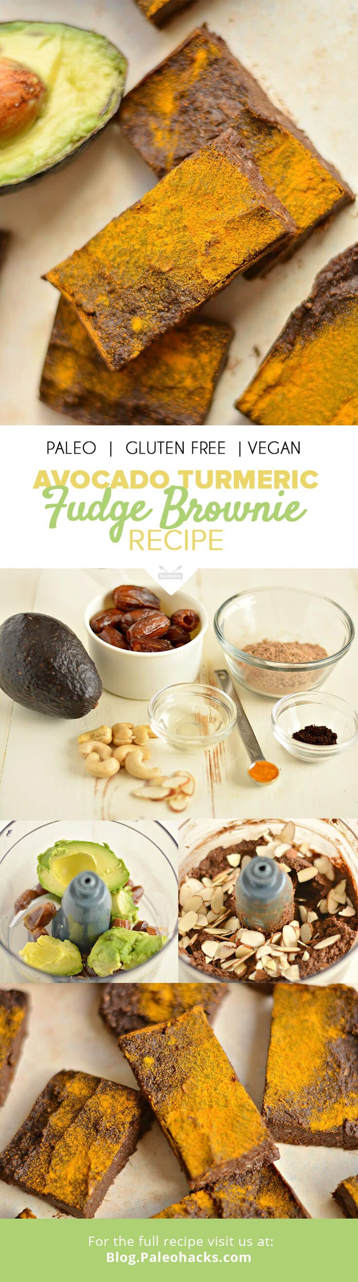his Avocado Turmeric Fudge Brownie recipe is packed with immunity-boosting ingredients. A healthy way to satisfy a chocolate craving! For the full recipe, visit us here: http://paleo.co/fudgebrowniercp
