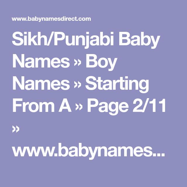 45++ Baby boy names indian punjabi information