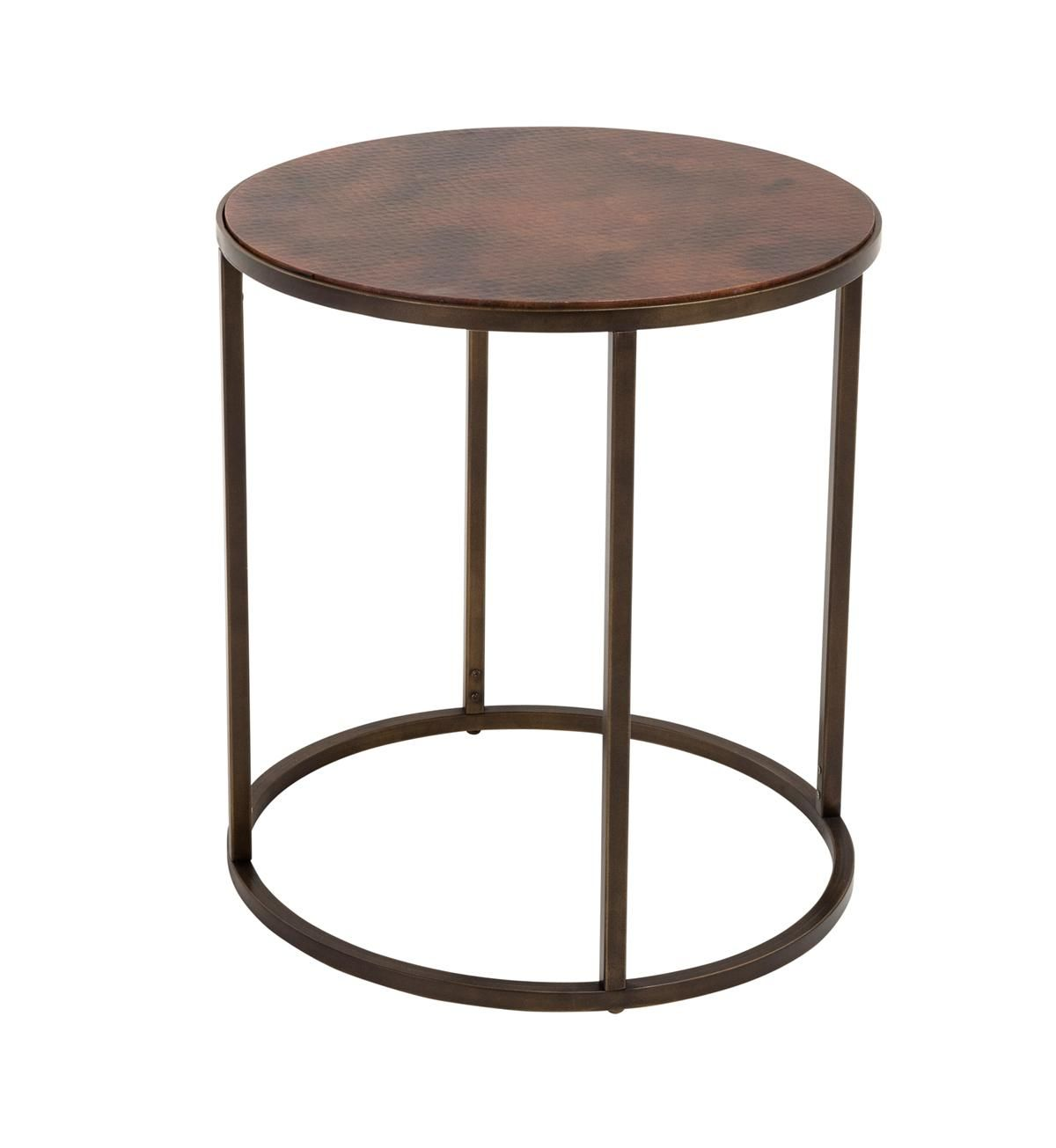 Copper Top End Table Weir S Furniture Copper Coffee Table Copper Top Table Nesting End Tables