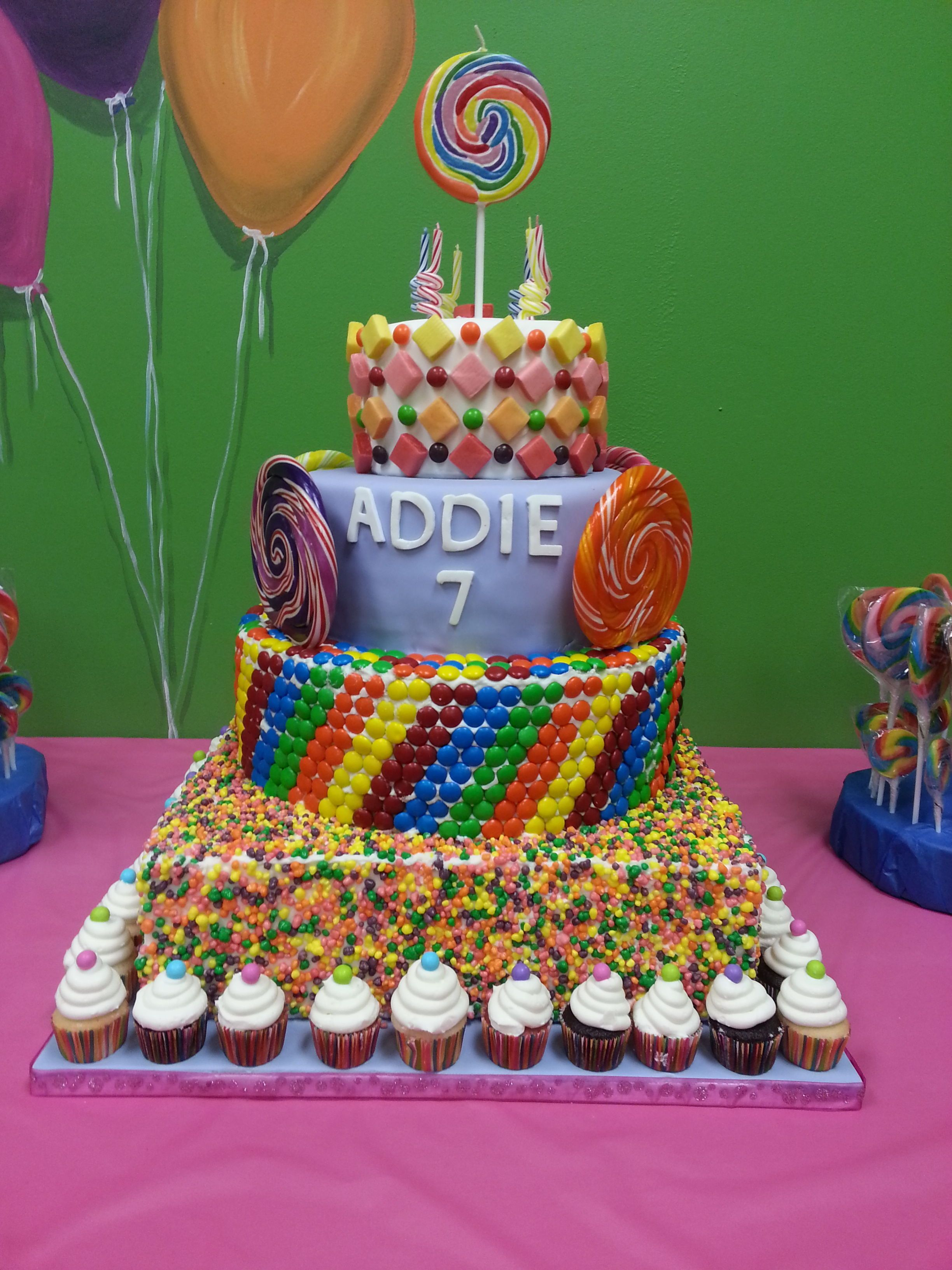 Candy Cake Nerds Mms Lollipops Starburst Skittles Torta