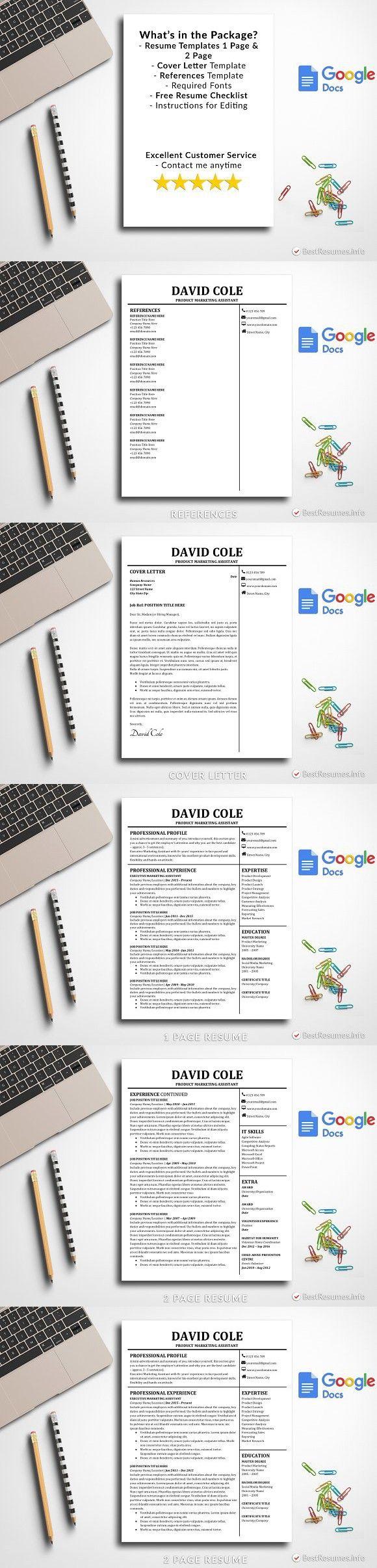 Resume On Google Docs Resume Template Google Docs  Simple Resume Templates  Pinterest .