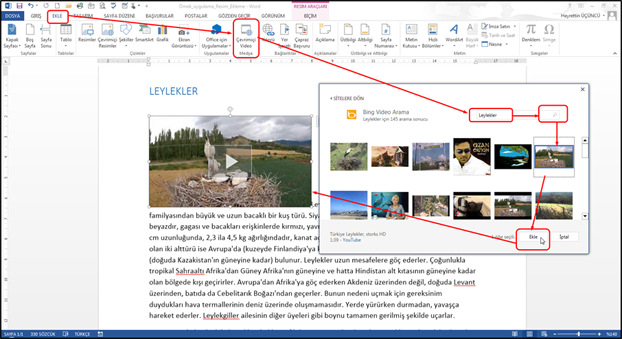 Eklediğiniz videoyu aynen resimleri metinin içine yerleştirme ... - Take our complimentary Microsoft Office training course now