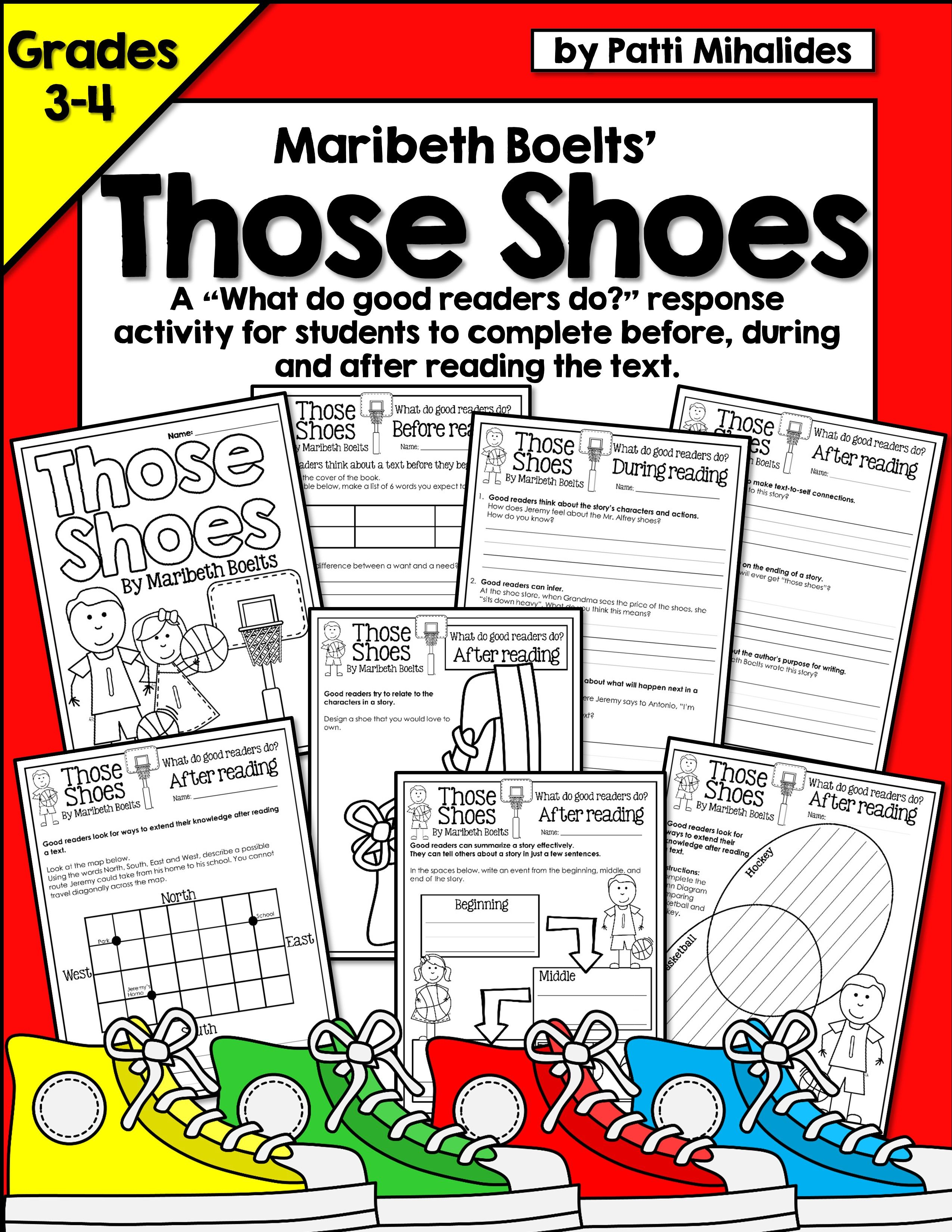Those Shoes By Maribeth Boelts A Reading Response Activity For 3rd 4th Grade