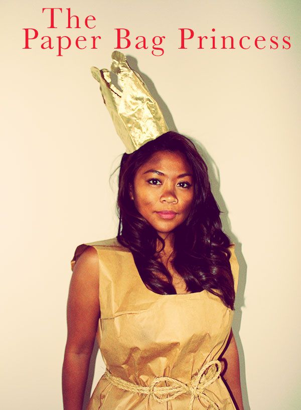The Paper Bag Princess Costume. Halloween #paperbagprincesscostume