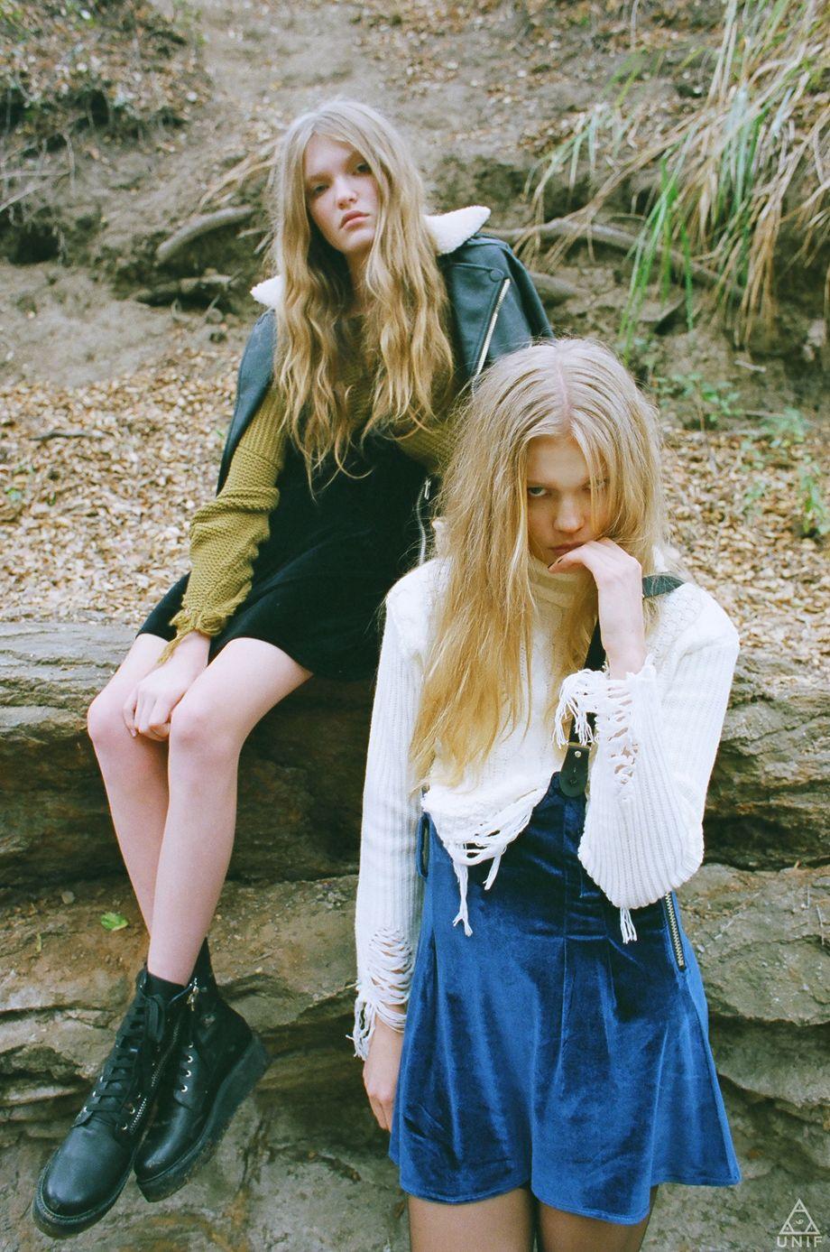 "UNIF ""Twins Peak"" Fall 2013 LookBook Fashion photography"