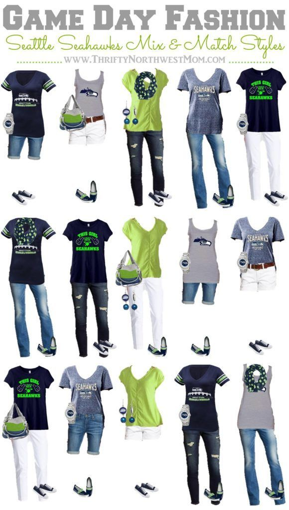 the latest f2cf0 44219 Seattle Seahawks Clothing for Women - 15 Mix & Match Outfits ...