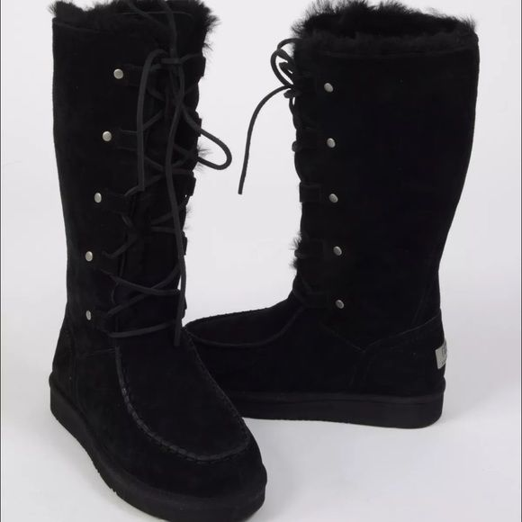 NEW UGG APPALACHIAN Tall BOOTS SZ 9 BLACK $270! $160 shipped on if purchased