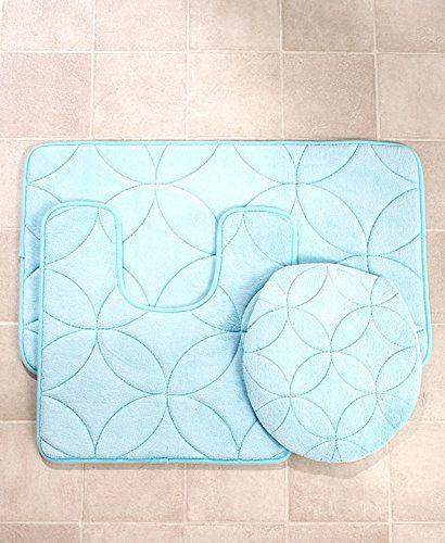 Memory Foam Bath Rug Set Aqua Bathroom Sets Pinterest Bath - Aqua bathroom rugs