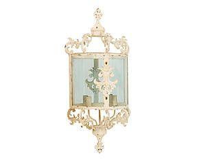 Applique da parete a 2 luci in ferro battuto baroque 33x44x13 cm
