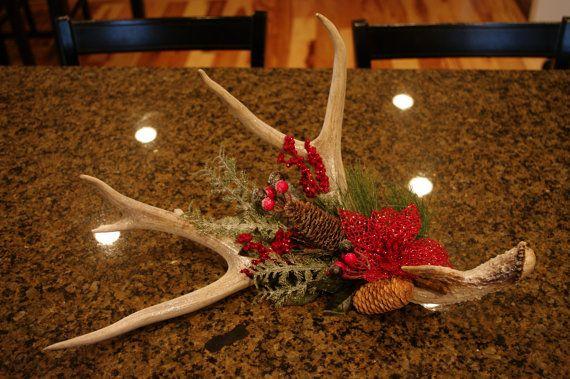Deer Antler Christmas Holiday Centerpiece $45