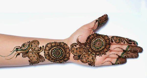 Bridal Mehndi Cost : Shaded bridal henna mehndi for hands arabic bride