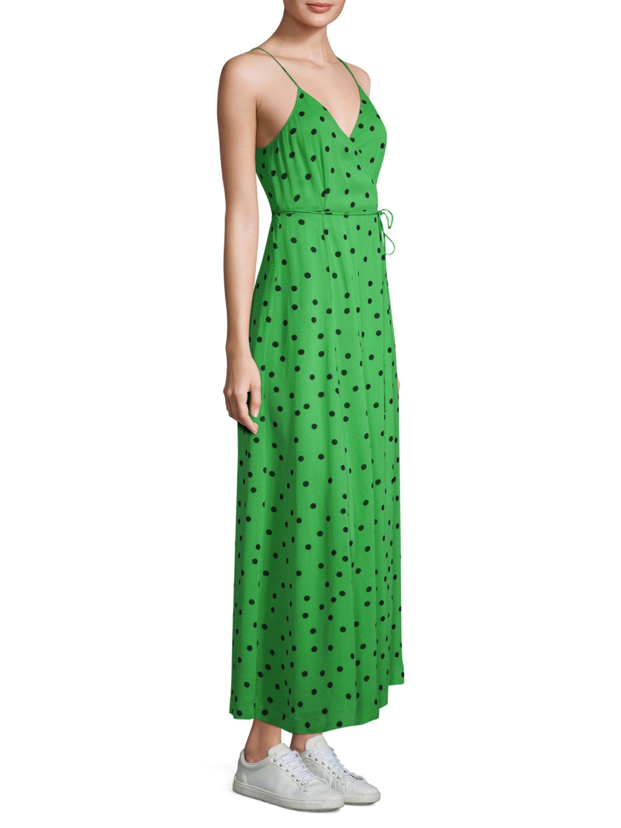 e2ee563e08d Ganni Dainty Georgette Polka Dot Dress - Classic Green 36 (4 ...