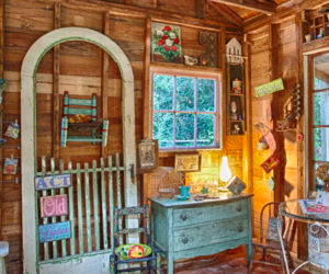 rustic she shed interiors - Google Search - rustic she ...