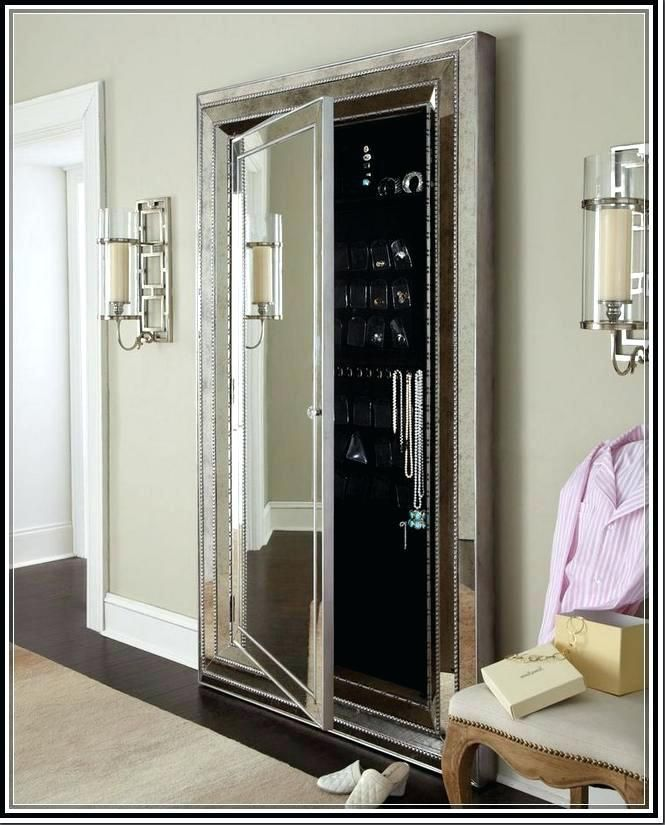Stand Up Mirror Jewelry Armoires Beautiful Furniture Floor