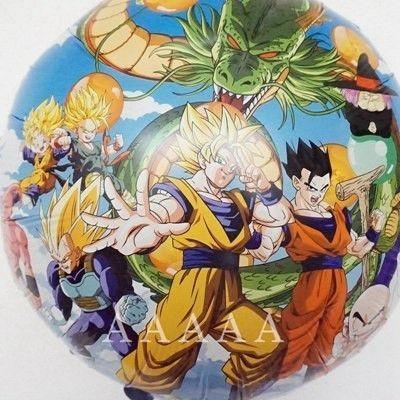 Dragon Ball Z Decorations 2Pcs Dragon Ball Z Balloons Son Goku Battle Genki Birthday