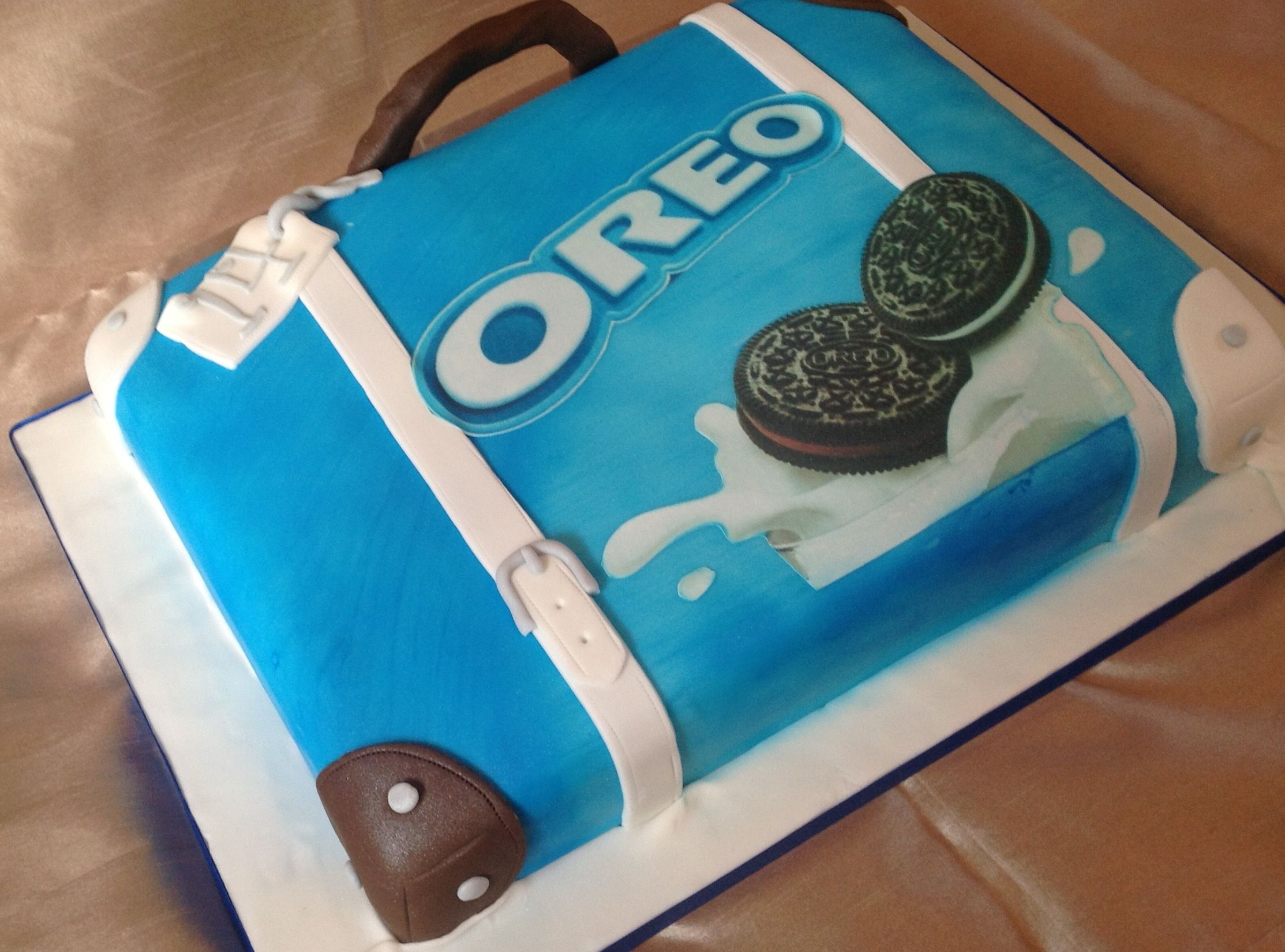 Oreo suitcase loved making this cake Purple sparkle cakes Www