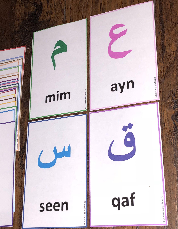 Arabic Cardseid Giftالعربيةarabic Etsy In 2020 Learn Arabic Alphabet How To Memorize Things Homeschool Learning