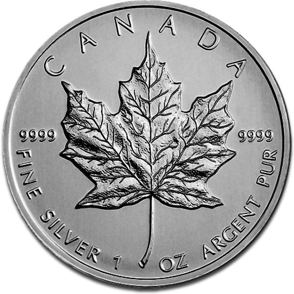 Canadian Silber Maple Leaf Obverse